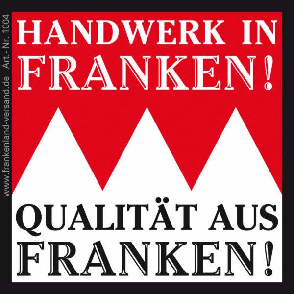 Aufkleber Handwerk in Franken