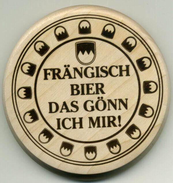 1214 holzbierdeckel fraengisch bier