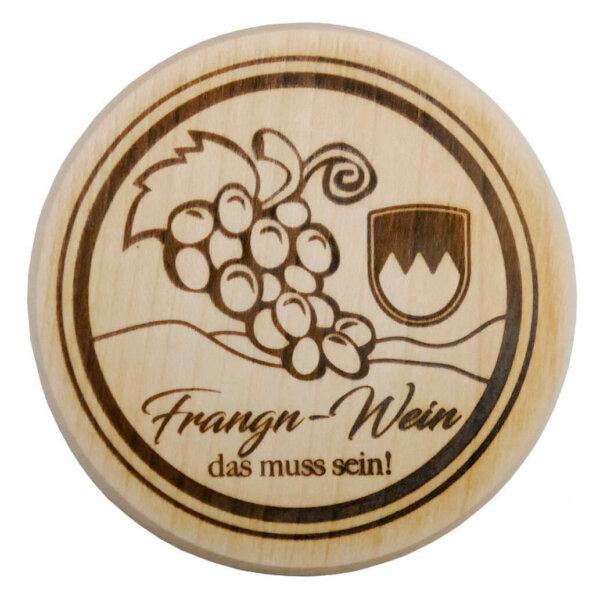 Weinglas-Holzdeckel