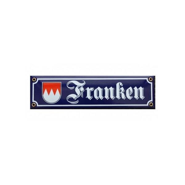 Franken Straßenschild aus Emaille