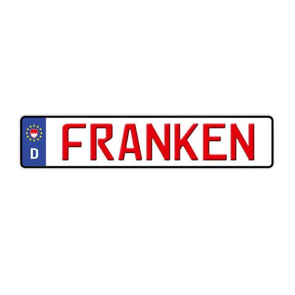 4009 franken aluschild