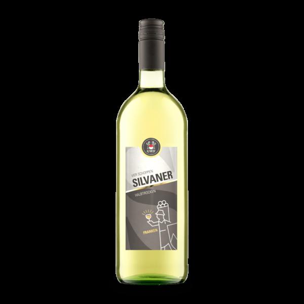 6051 VIER SCHOPPEN Silvaner Qualitaetswein halbtrocken