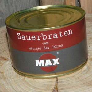 Sauerbraten in der Dose - Metzgerei Max in Hof