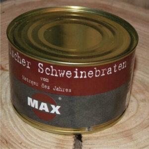 Schweinebraten in der Dose von der Metzgerei Max in Hof