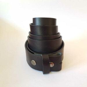 Vollrindleder-Gürtel ohne Schnalle in schwarz