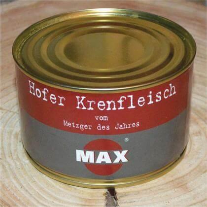 MAX Hofer Krenfleisch in der Dose