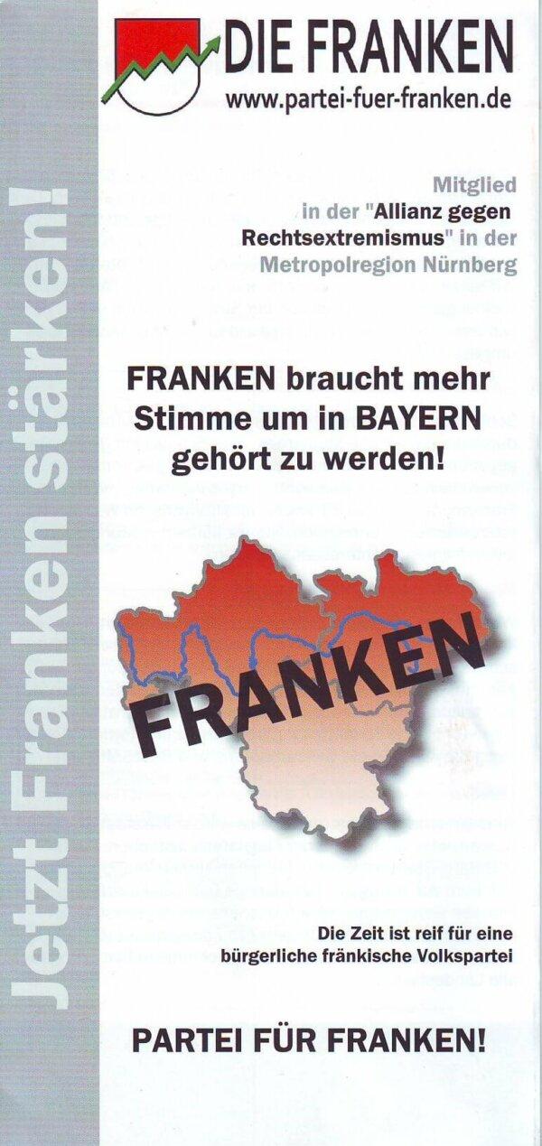 Die Franken - Partei für Franken / Infoflyer
